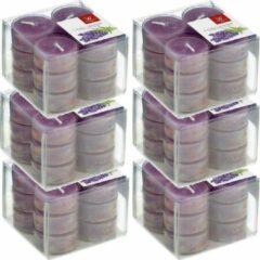 Trend Candles 72x Geurtheelichtjes lavendel/paars 4 branduren - Geurkaarsen lavendelgeur - Waxinelichtjes