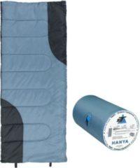 10-T Outdoor Equipment 10T Hanya Schlafsack 180x75 cm -6° Deckenschlafsack Blau/Grau warm wasserabweisend waschbar