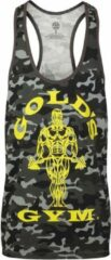 Zwarte Gold's gym GGVST051 Muscle Joe Camo Stringer Vest - Camo Black - S
