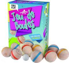 Massamarkt Jeu des boules hout, 6 ballen