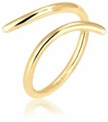 Gouden Elli Dames Ringen Dames wikkelring Blogger Statement van 925 sterling zilver