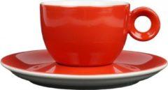 Rood koffiekopje met schotel - 150ml - Mosterdman