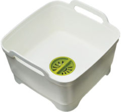 Witte Joseph Joseph Wash and Drain Afwasteil - Incl. Stop - Polypropyleen - 8,9 l - Wit
