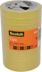 Plakband Scotch 550 15 mm x 66 m krimp transparant 10 rollen