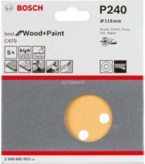 Stayer Bosch C470 Schleifblatt, 5er-Pack für Exzenterschleifer 2608605063