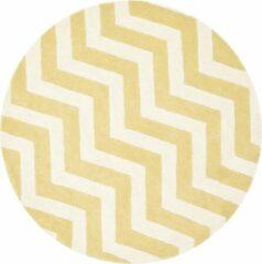 Goudkleurige Safavieh Hedendaags Ronde Vloerkleed, CHT715