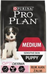 PURINA® PRO PLAN® Hond Medium Puppy Sensitive Skin met OPTIDERMA® Rijk aan Zalm droge brokken 12kg