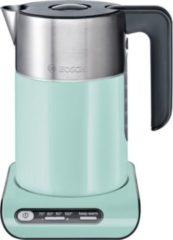 Bosch Wasserkocher Styline TWK8612P, 1,5 Liter, mint turquoise-black grey