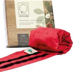 Rode Kersepitje Dorso Belt 125 x 21 cm – draagbaar kersenpitkussen - warmte kussen - opwarmbaar - koud warm kompres - inatura