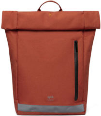Oranje Lefrik Reflective Roll Rolltop Laptop Rugzak - Eco Friendly - Recycled Materiaal - 15,6 inch - Rust