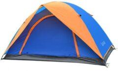 FUD Koepeltent 210X140X100Cm - Blauw En Oranje - 2 Persoons