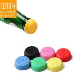 Rode Koozie.eu Bierfles afsluit dopjes | Anti insecten dopjes | 6x Bierdoppen - Bier dop - Bierfles - Flessenstop - Zes Stoppers
