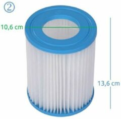 Bestway filter type II - Jilong filter type M2 voor Bestway filterpompen 2,0 en 3,0 m3/l/u