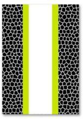 Verhaak Schrift Kixx Harde Kaft Ruit 10x10mm A4 Zwart/wit/geel