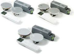 KBSound Eissound I-Select, Einbauradio für Küche und Bad, Display-Fernbedienung und RDS Farbe: Weiß
