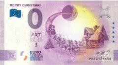 Paarse 0 Euro Biljet 2020 - Merry Christmas