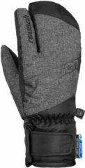 Zwarte Reusch Dario R-TEX® XT Lobster Kids Unisex Skihandschoenen - Black/Black Melange - Maat 5