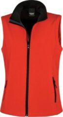 Result Softshell casual bodywarmer rood voor dames - Outdoorkleding wandelen/zeilen - Mouwloze vesten L (40/52)
