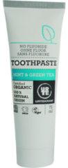 Urtekram No Fluoride Tandpasta - munt/groene thee - 75ml