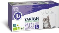 Yarrah Biologisch Kattenvoer Multipack Paté Graanvrij Kip - Kalkoen 800 gr