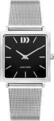 Zilveren Danish Design watches edelstalen dameshorloge Miami Silver Black Mesh IV63Q1248