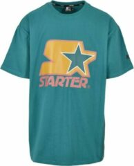 Starter Heren Tshirt -XXL- Starter Colored Logo Blauw
