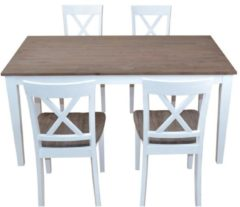 Möbel direkt online Moebel direkt online Massivholzstühle 2er-Set 2 Stühle aus Massivholz Akazie Stuhl-Set