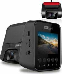 Zwarte Allcam T810 4K Ultra HD 2CH Dual Wifi GPS dashcam voor auto