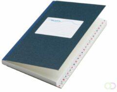 Notitieboek octavo Atlanta 2182204600 met alfabet blauw