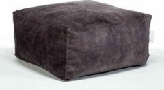 Laui lounge Velvet - Vierkante Poef - Indoor - Dark Grey, Grijs - 68 x 68 x 34 cm