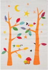 Impression Bambino Vogels Kinderkamer Vloerkleed Wit Laagpolig - 120x170 CM