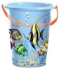 Merkloos / Sans marque Blauwe speelgoed strandemmer vissen