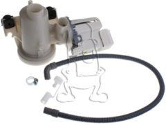 Bauknecht, Whirlpool, Maytag Ablaufpumpe mit Pumpenstutzen und Filter (Magnettechnikpumpe, 45 Watt) für Waschmaschinen 484000001051