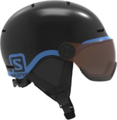 Salomon Grom Visor Ski helm Junior Skihelm - UnisexKinderen - zwart/blauw