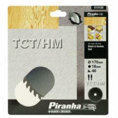 Skil BLACK+DECKER Piranha Sägeblatt für Kreissäge, TCT/HM 170x16 mm K40 X13125-XJ