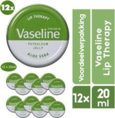Groene Vaseline Lip Therapy 12 Stuks Aloë Vera