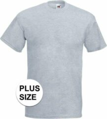 Fruit of the Loom Grote maten basic licht grijs t-shirt voor heren - voordelige katoenen shirts 5XL (50/62)