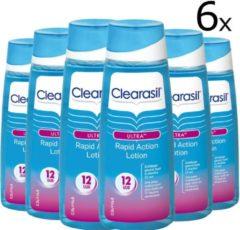 Clearasil Ultra Rapid Action Lotion - 6 x 200 ml - Reinigingslotion - Voordeelverpakking
