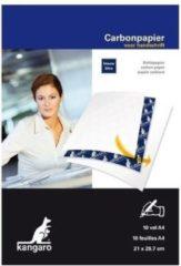 Kangaro 20x Carbonpapier/transferpapier/overtrekpapier blauw A4 - Blauwe overtrekvellen - Hobbymateriaal