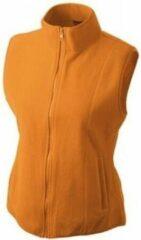 James & Nicholson Fleece casual bodywarmer oranje voor dames - Holland feest/outdoor kleding - Supporters/fan artikelen L