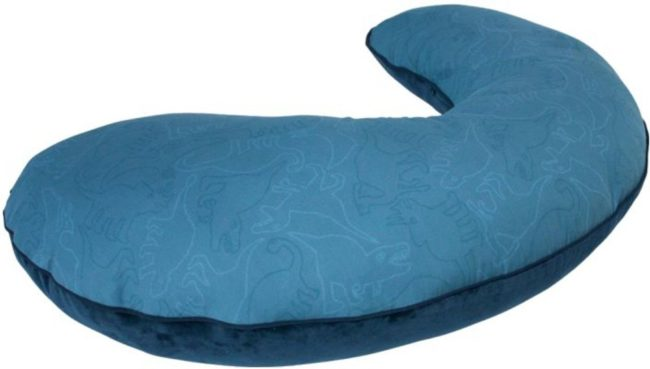Afbeelding van Blauwe Voedingskussen Noordpool dieren - Gewatteerd - Katoen - Foam vulling - Sebra