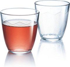 Transparante Luminarc Concepto Chevron Waterglazen 25 cl - Glas - (Set van 6) En Yourkitchen E-kookboek - Heerlijke Smulrecepten