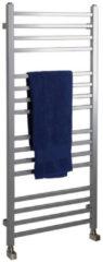 Handdoekradiator Sapho Metro Recht 50x120 cm Zilver
