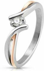 Moorell Ring Dames - Ringen Dames - Ringen Vrouwen - Zilverkleurig - Ring - Ringen - Sieraden Vrouw - Stijlvol met Unieke Twist - Twisted