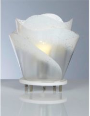 Emporium Lampada da tavolo ROSA con paralume in policarbonato antiriflesso Ø 25xh26 cm colore bianco