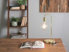 Beliani SAVENA - Tafellamp - Metaal - goud - 15x15x48