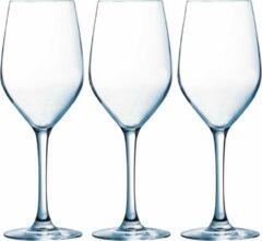 Arcoroc 6x Stuks wijnglazen transparant 270 ml - Wijnglas voor rode of witte wijn op voet