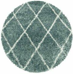 ALVOR SHAGGY Himalaya Harmony Soft Shaggy Rond Hoogpolig Vloerkleed Blauw / Turquoise- 120 CM ROND