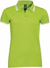 Groene Polo Shirt Korte Mouw Sols PASADENA MODERN WOMEN