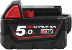 Milwaukee M18B5 18V / 5.0 Ah Li-Ion reserveaccu